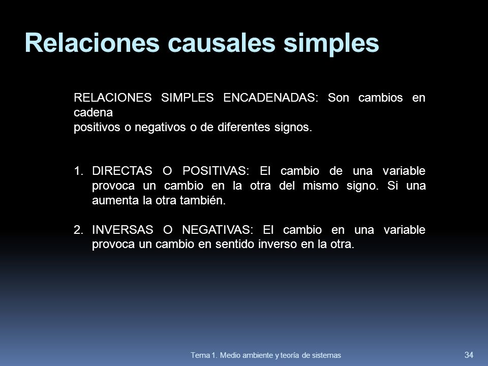 Relaciones causales simples