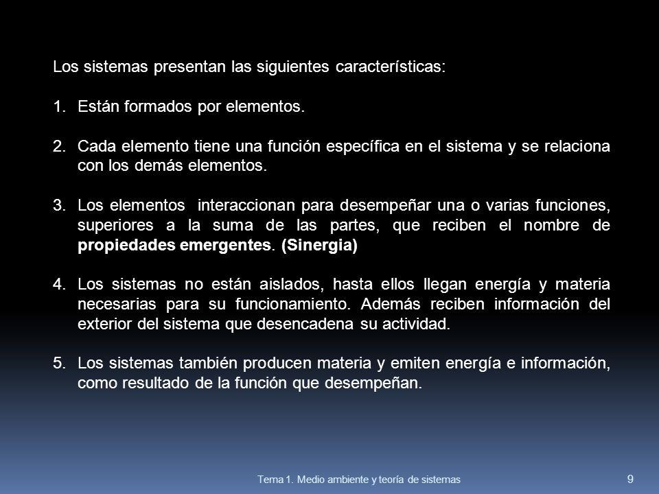 Los sistemas presentan las siguientes características:
