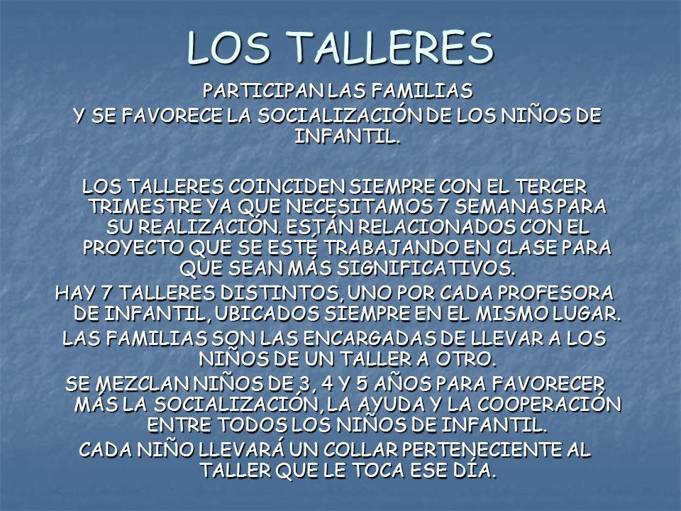LOS TALLERES PARTICIPAN LAS FAMILIAS