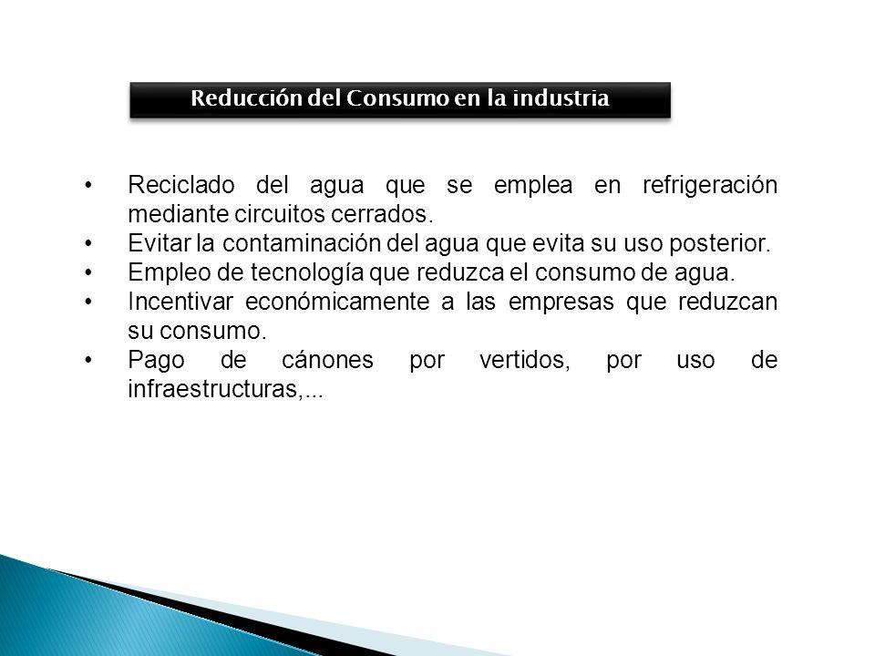 Reducción del Consumo en la industria