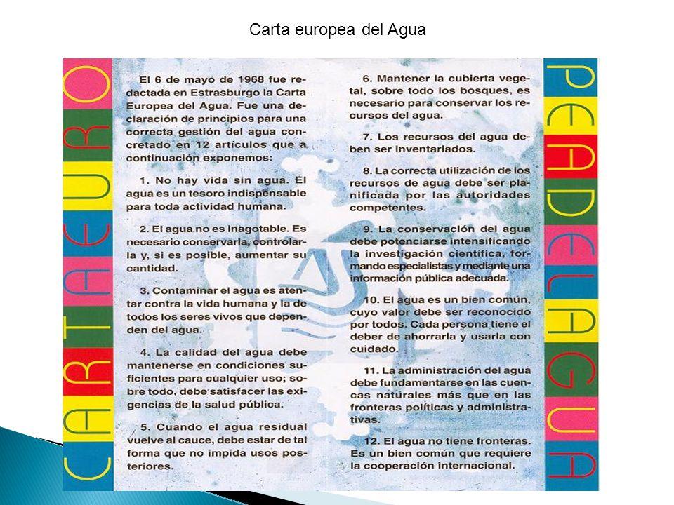 Carta europea del Agua