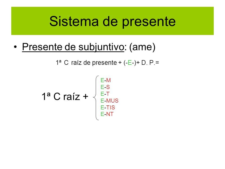 Sistema de presente Presente de subjuntivo: (ame)
