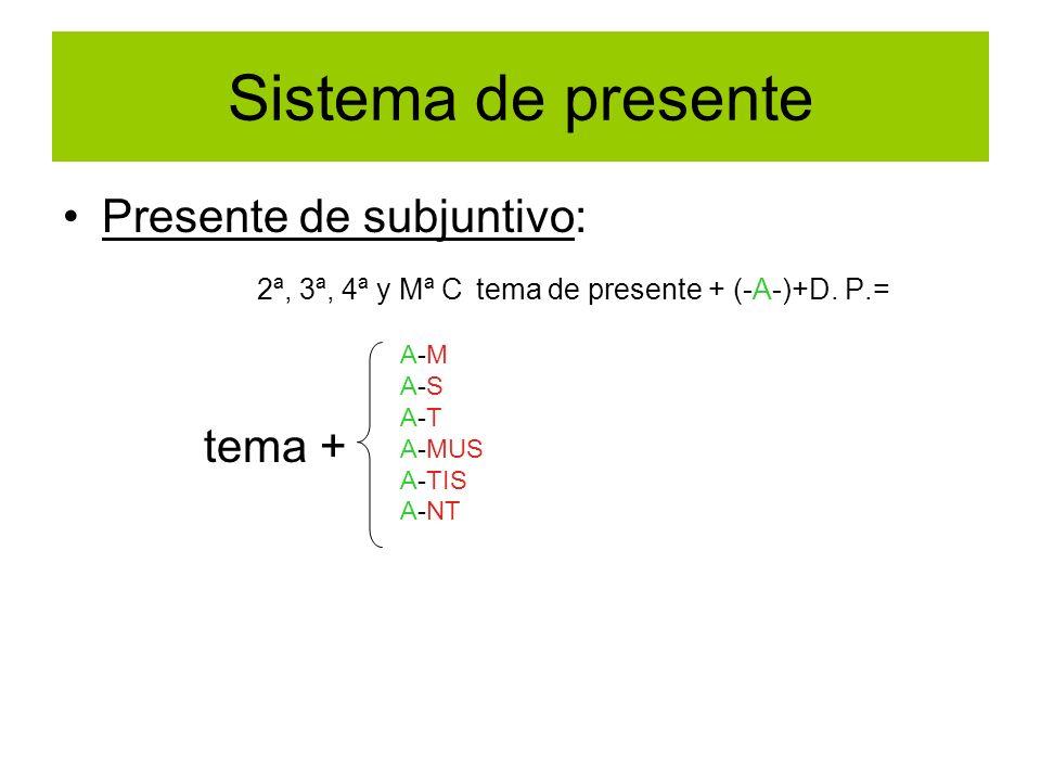 Sistema de presente Presente de subjuntivo: