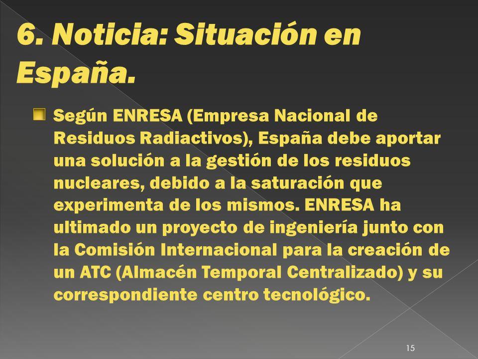 6. Noticia: Situación en España.