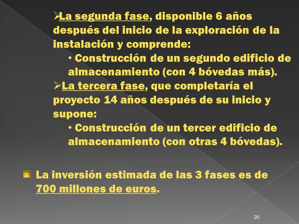 La segunda fase, disponible 6 años después del inicio de la exploración de la instalación y comprende: