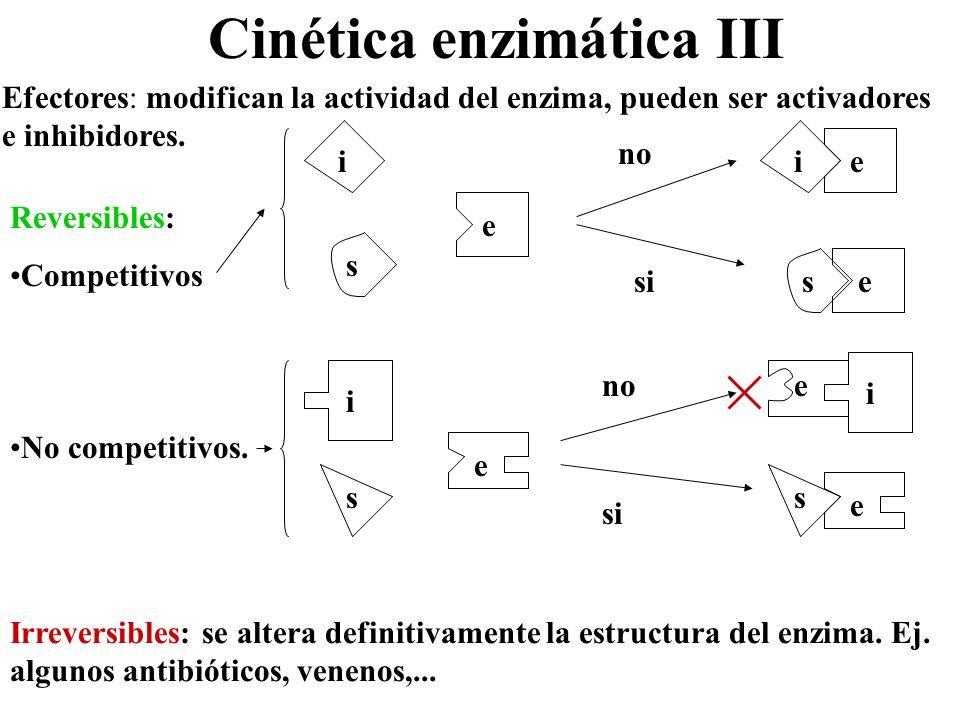 Cinética enzimática III