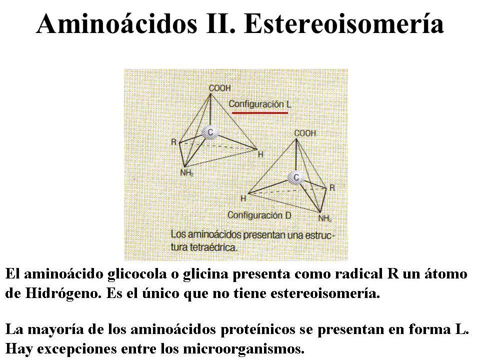 Aminoácidos II. Estereoisomería