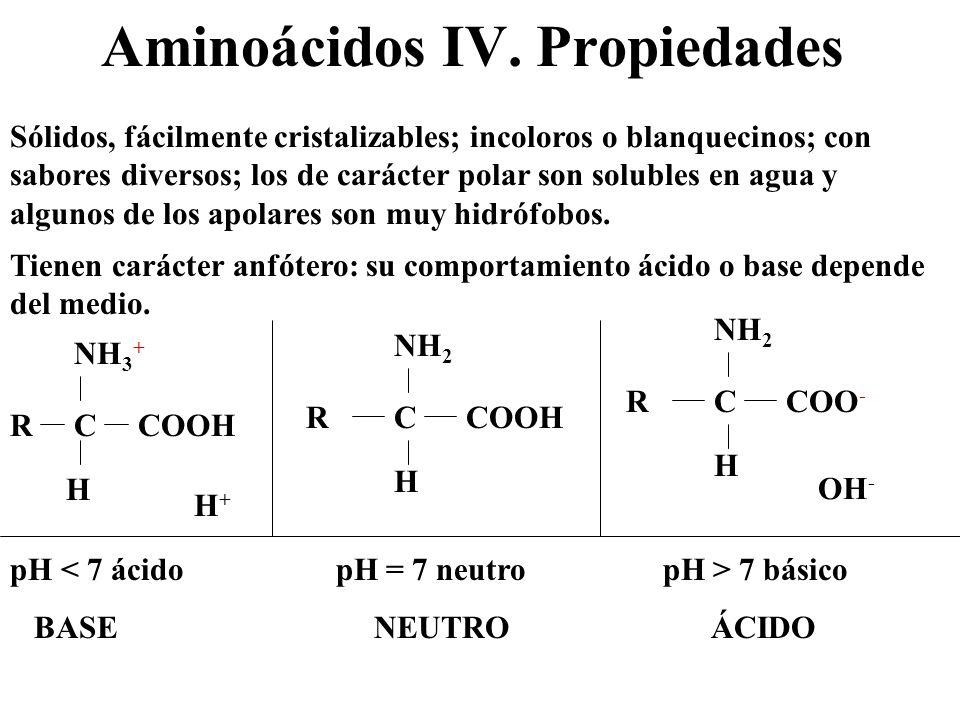 Aminoácidos IV. Propiedades