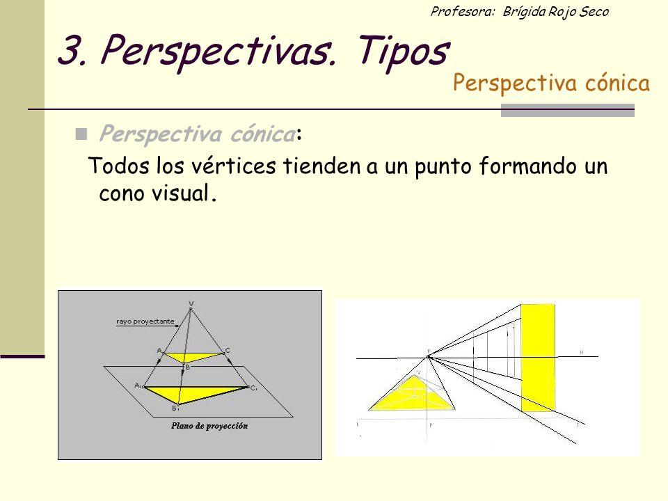 3. Perspectivas. Tipos Perspectiva cónica Perspectiva cónica:
