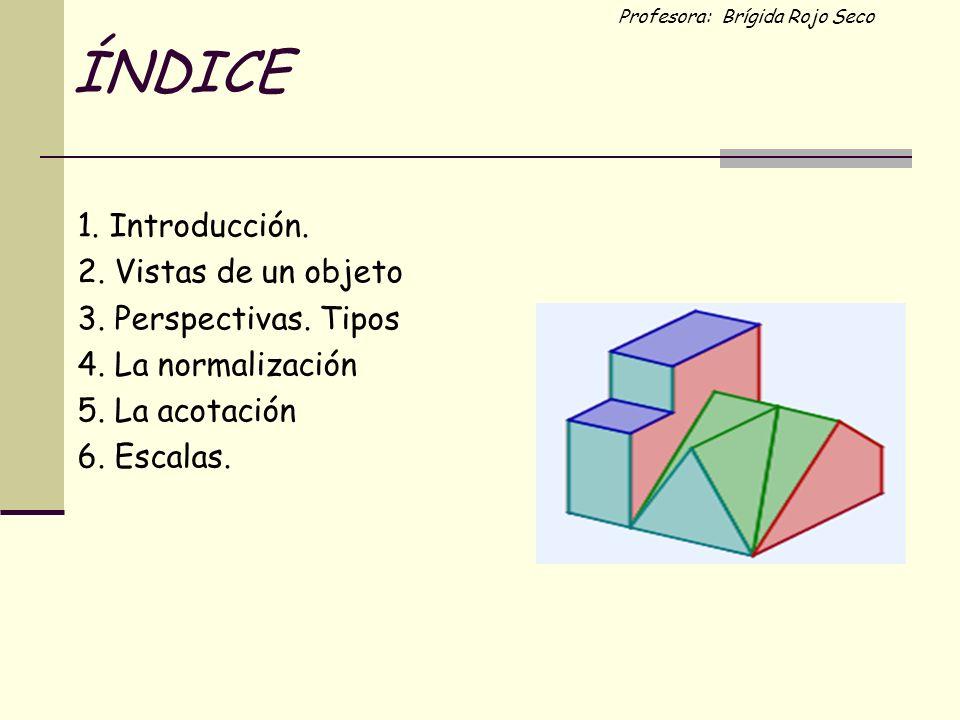 ÍNDICE 1. Introducción. 2. Vistas de un objeto 3. Perspectivas. Tipos