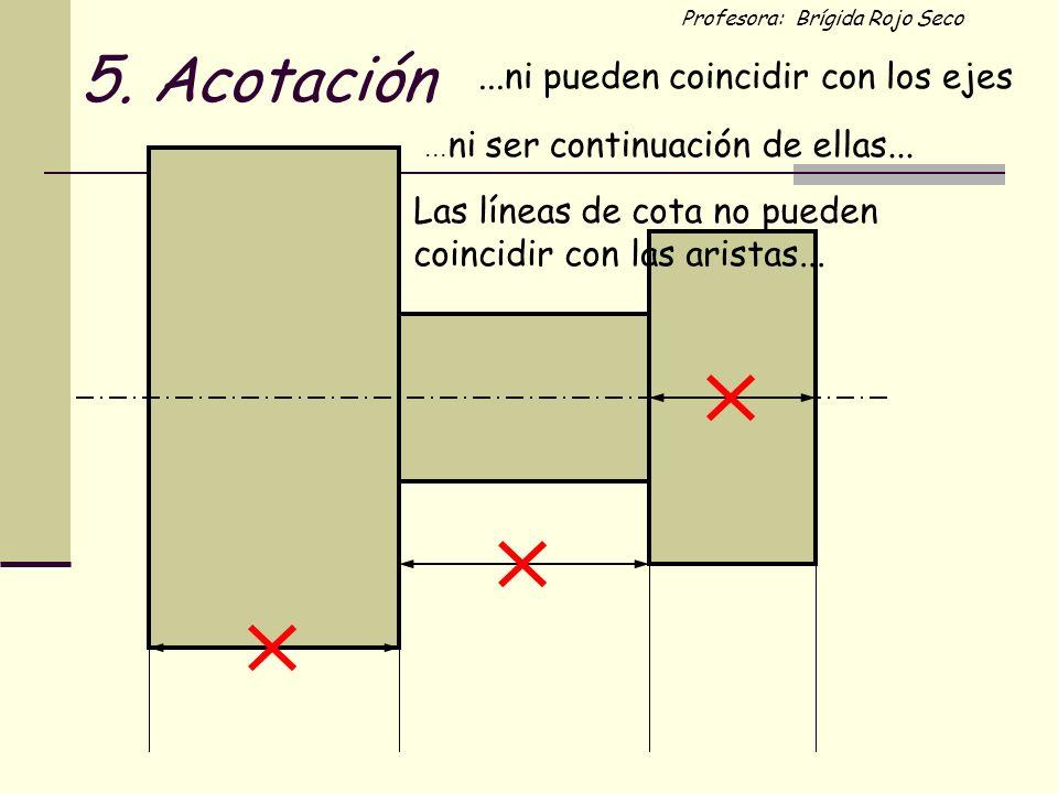 5. Acotación ...ni pueden coincidir con los ejes