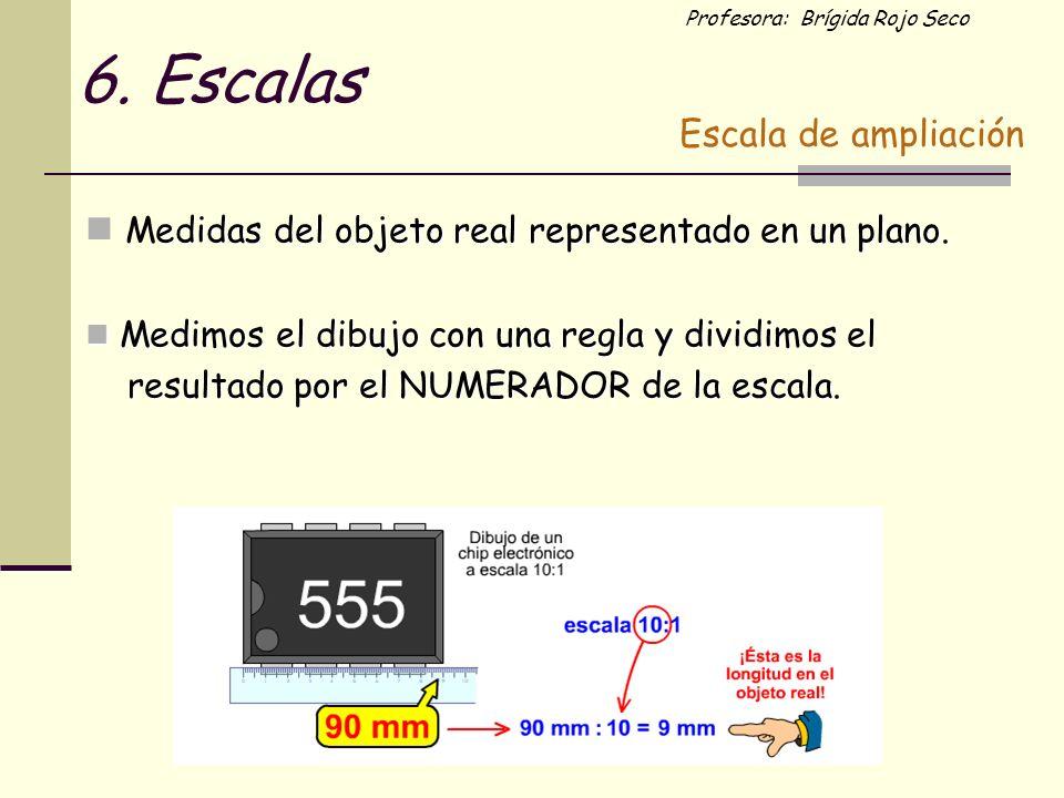 6. Escalas Medidas del objeto real representado en un plano.