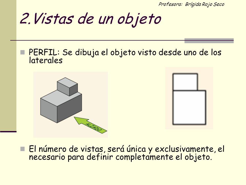 2.Vistas de un objeto PERFIL: Se dibuja el objeto visto desde uno de los laterales.