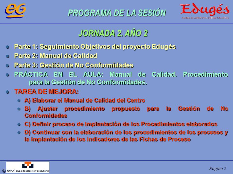 PROGRAMA DE LA SESIÓN JORNADA 2. AÑO 2
