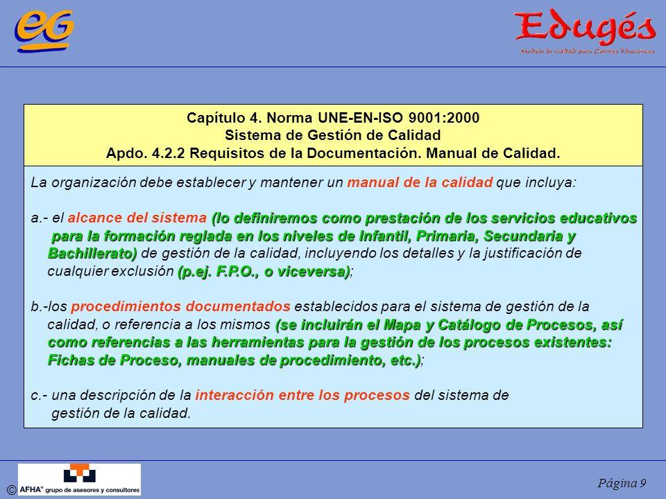 Capítulo 4. Norma UNE-EN-ISO 9001:2000 Sistema de Gestión de Calidad