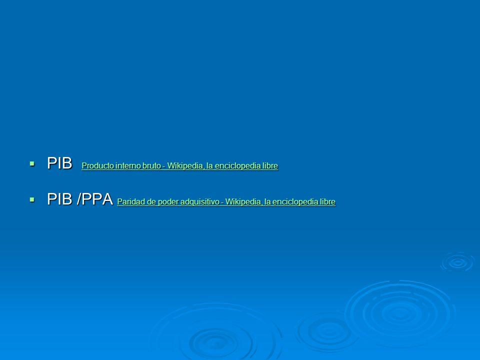 PIB Producto interno bruto - Wikipedia, la enciclopedia libre