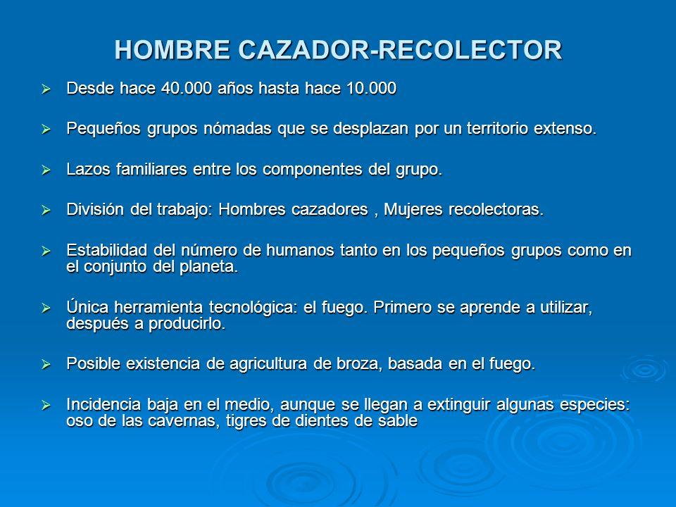 HOMBRE CAZADOR-RECOLECTOR