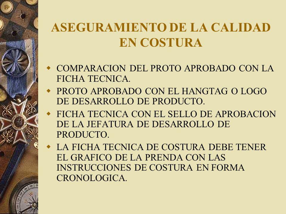 ASEGURAMIENTO DE LA CALIDAD EN COSTURA
