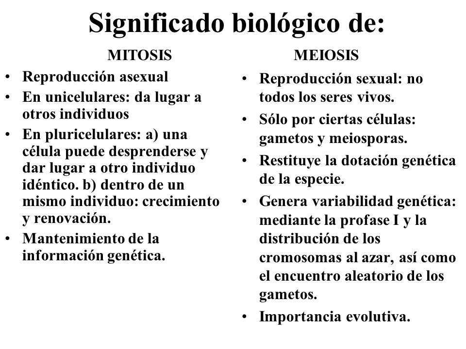 Significado biológico de:
