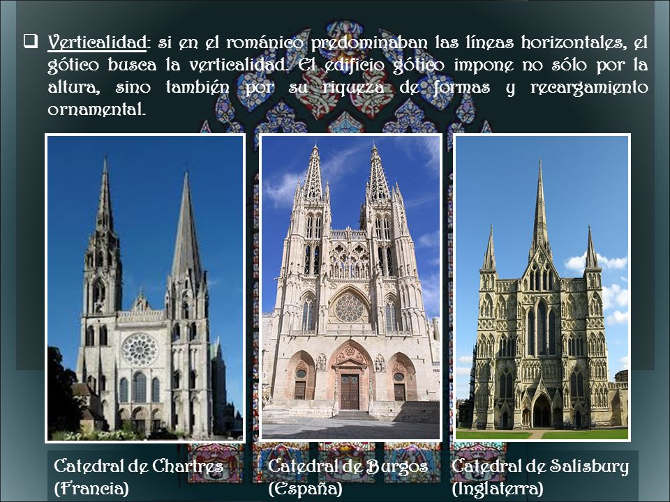 Catedral de Chartres (Francia) Catedral de Burgos (España)
