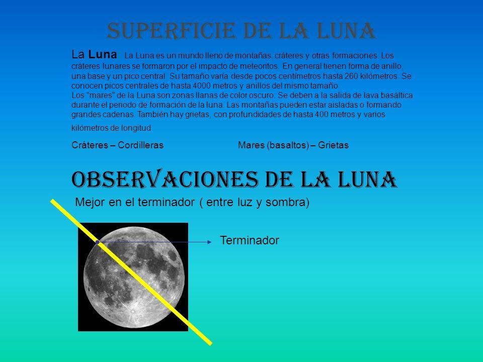 OBSERVACIONES DE LA LUNA