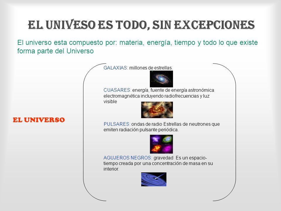 EL UNIVESO ES TODO, SIN EXCEPCIONES