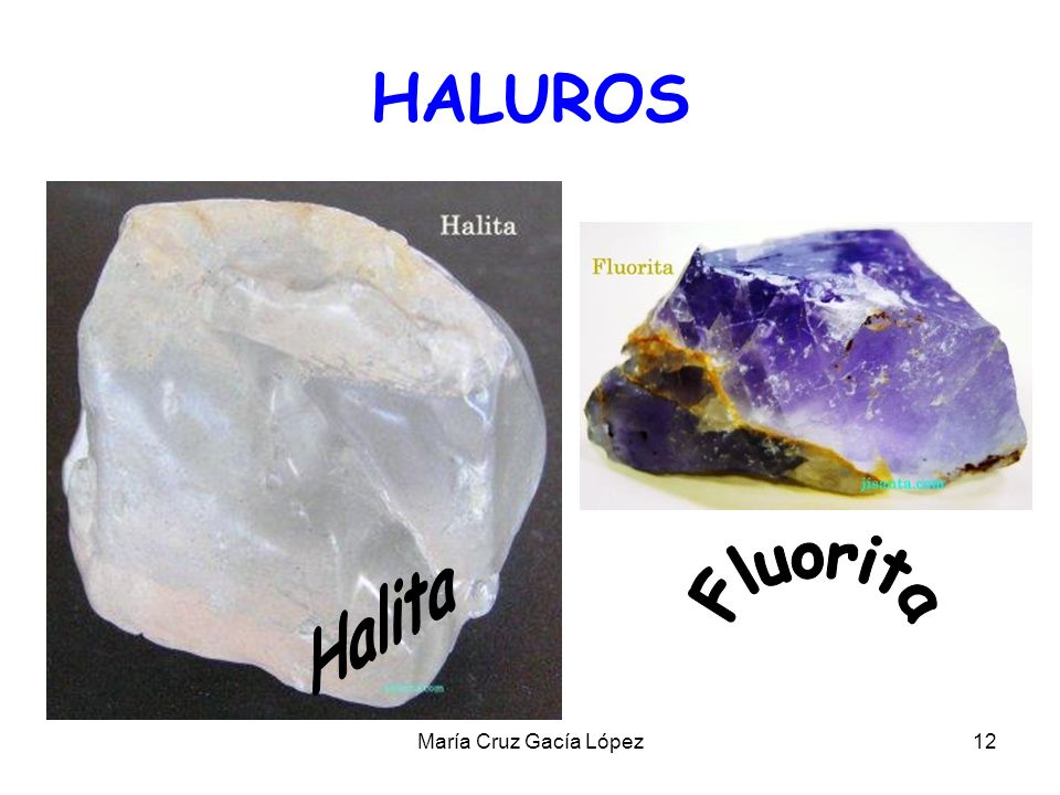 HALUROS Halita Fluorita María Cruz Gacía López