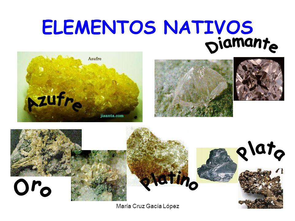 ELEMENTOS NATIVOS Diamante Azufre Plata Platino Oro