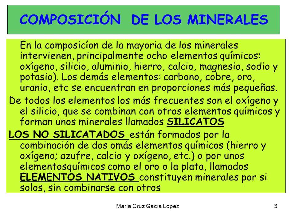COMPOSICIÓN DE LOS MINERALES
