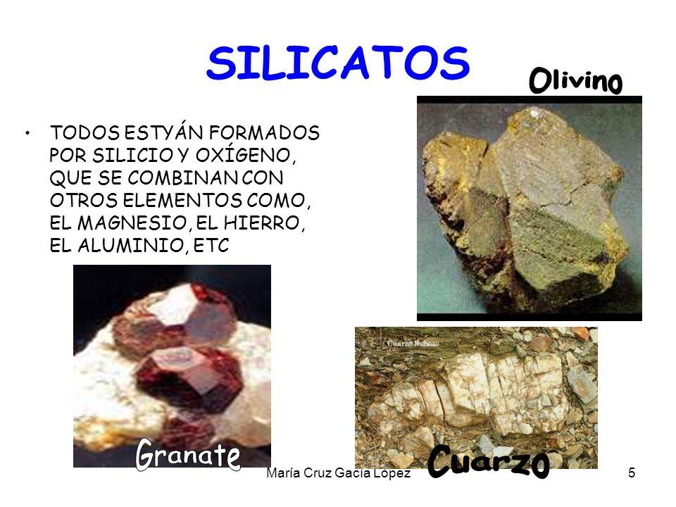 SILICATOS Olivino Granate Cuarzo