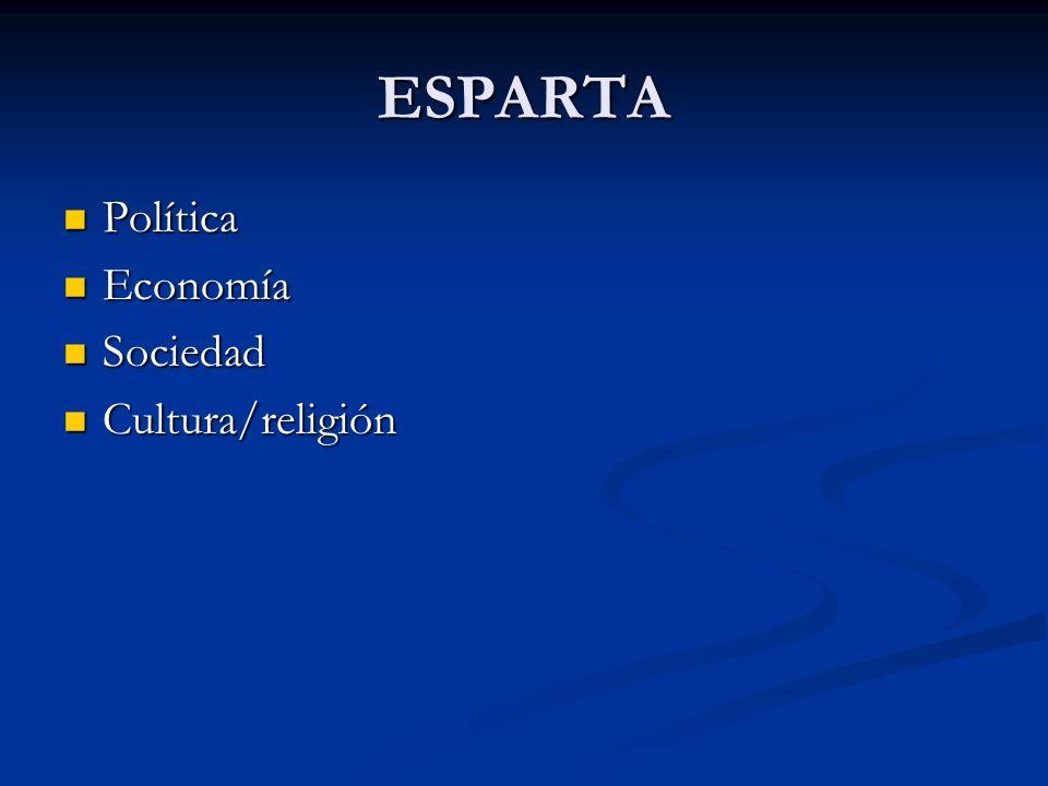 ESPARTA Política Economía Sociedad Cultura/religión