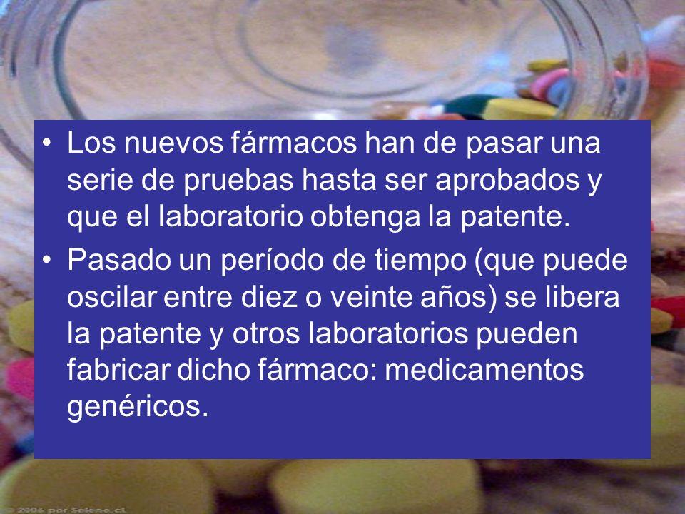 Los nuevos fármacos han de pasar una serie de pruebas hasta ser aprobados y que el laboratorio obtenga la patente.
