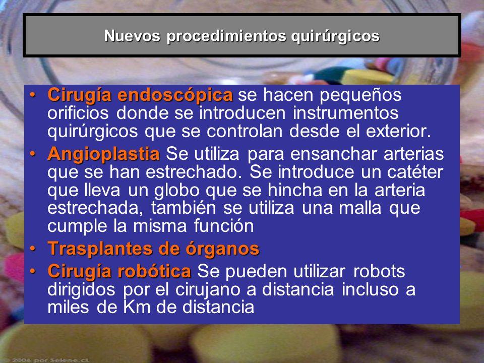 Nuevos procedimientos quirúrgicos