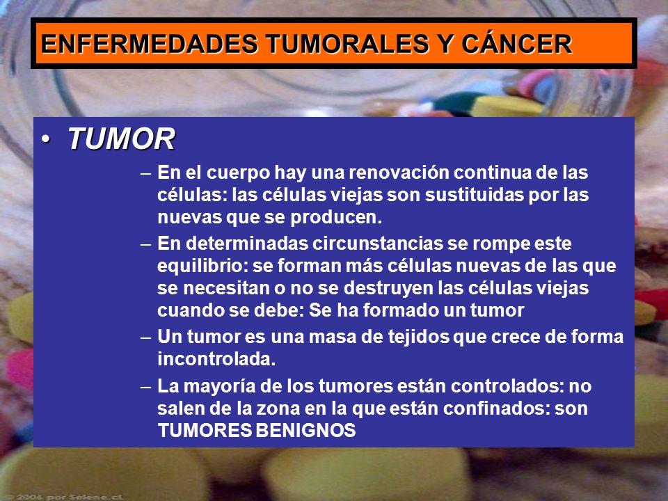 ENFERMEDADES TUMORALES Y CÁNCER