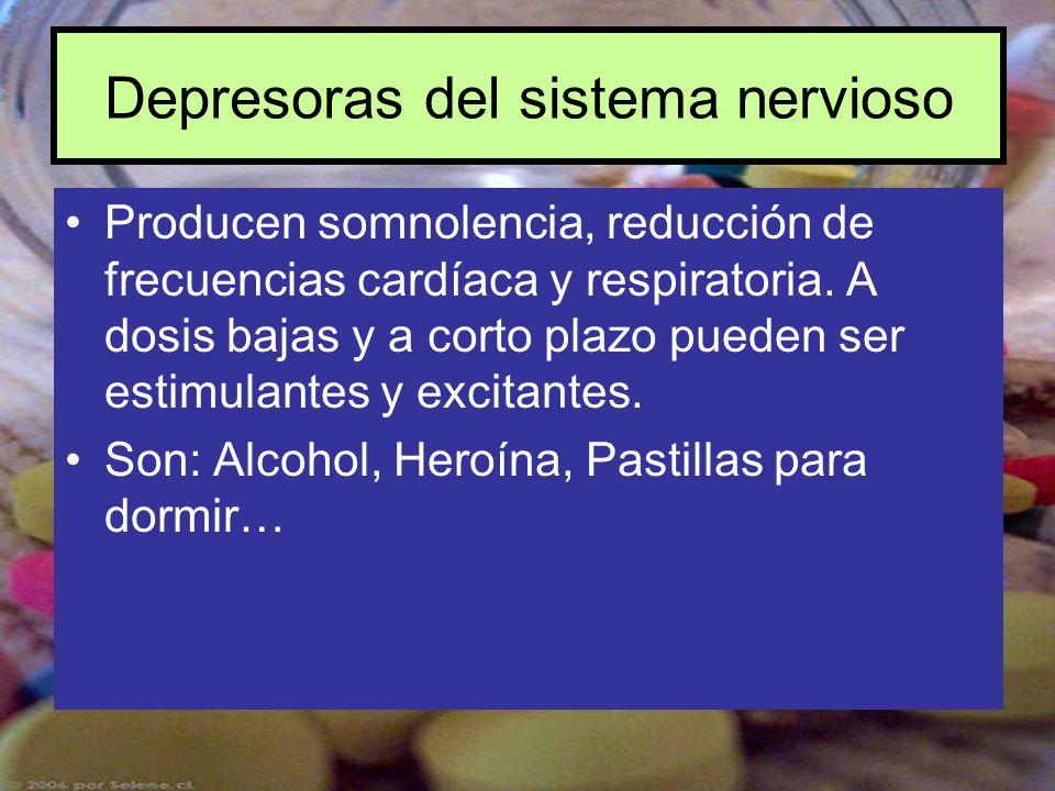 Depresoras del sistema nervioso