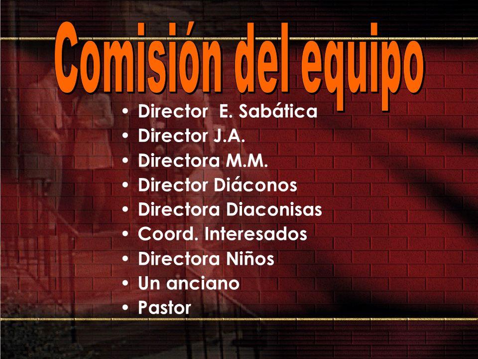 Comisión del equipo Director E. Sabática Director J.A. Directora M.M.