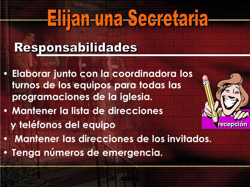 Elijan una Secretaria Responsabilidades