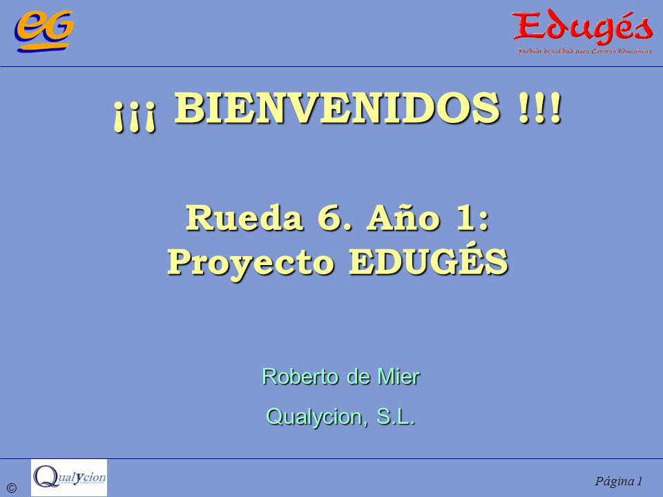 ¡¡¡ BIENVENIDOS !!! Rueda 6. Año 1: Proyecto EDUGÉS Roberto de Mier