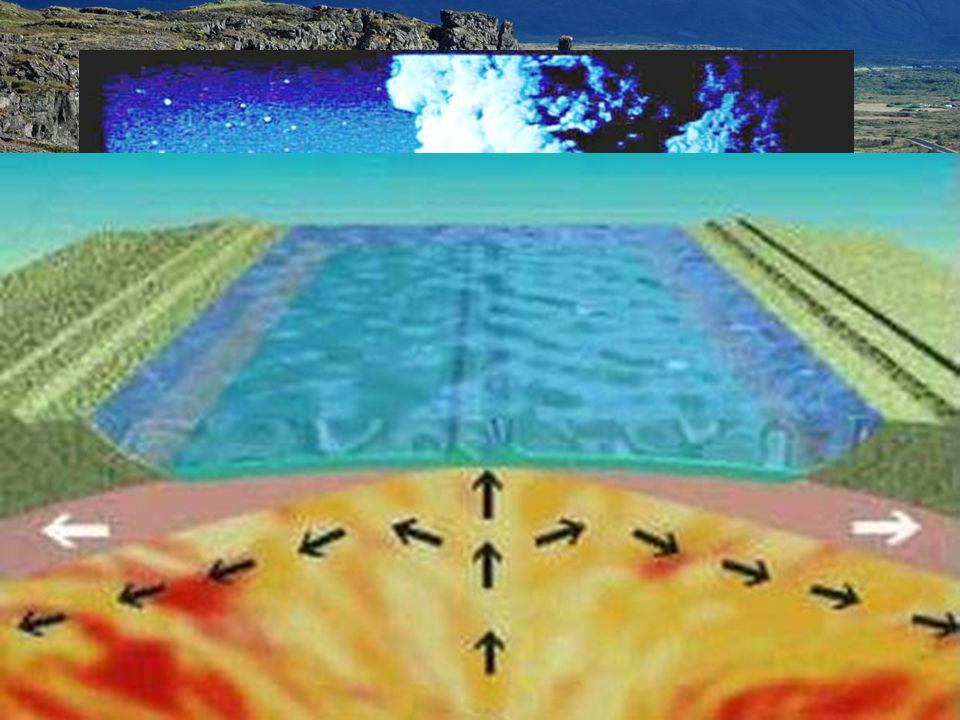 La explicación a todos estos fenómenos es la llamada: Teoría de la expansión del fondo oceánico: