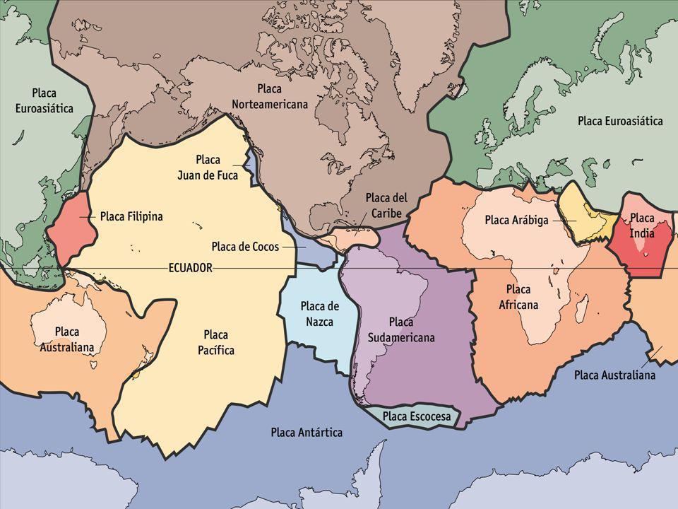 Tectónica de placas Con todos estos datos se llegó a enunciar la teoría de la tectónica de placas: