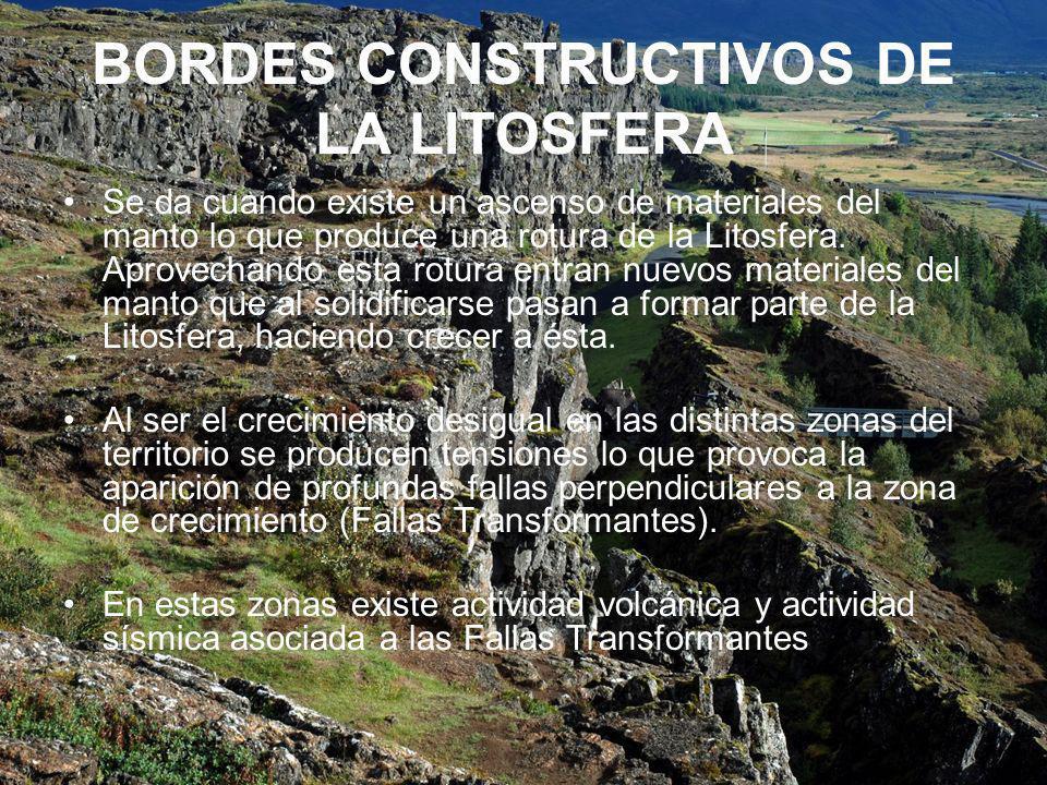 BORDES CONSTRUCTIVOS DE LA LITOSFERA