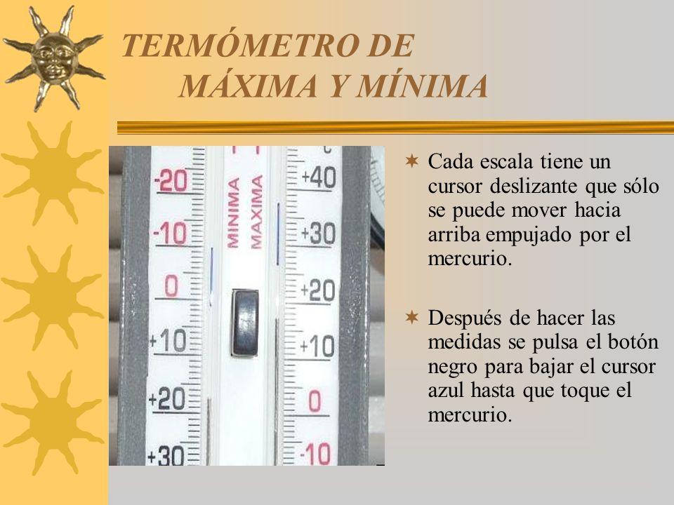 TERMÓMETRO DE MÁXIMA Y MÍNIMA