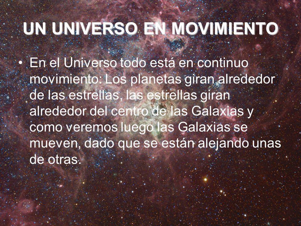 UN UNIVERSO EN MOVIMIENTO