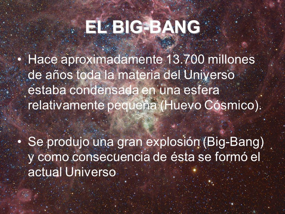 EL BIG-BANG