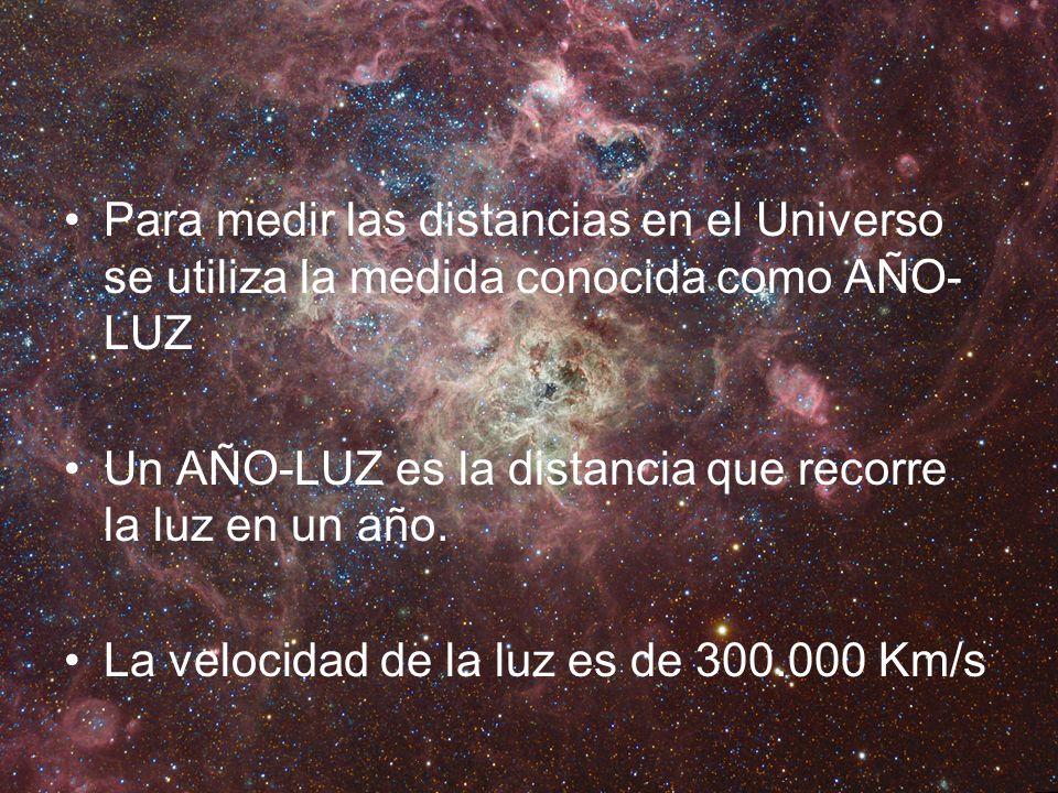 Para medir las distancias en el Universo se utiliza la medida conocida como AÑO-LUZ