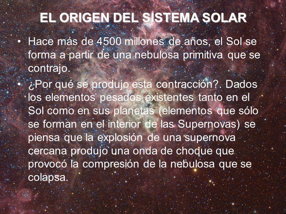 EL ORIGEN DEL SISTEMA SOLAR