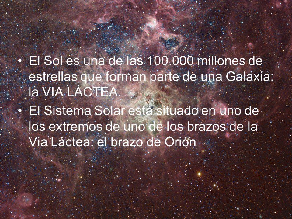 El Sol es una de las 100.000 millones de estrellas que forman parte de una Galaxia: la VIA LÁCTEA.