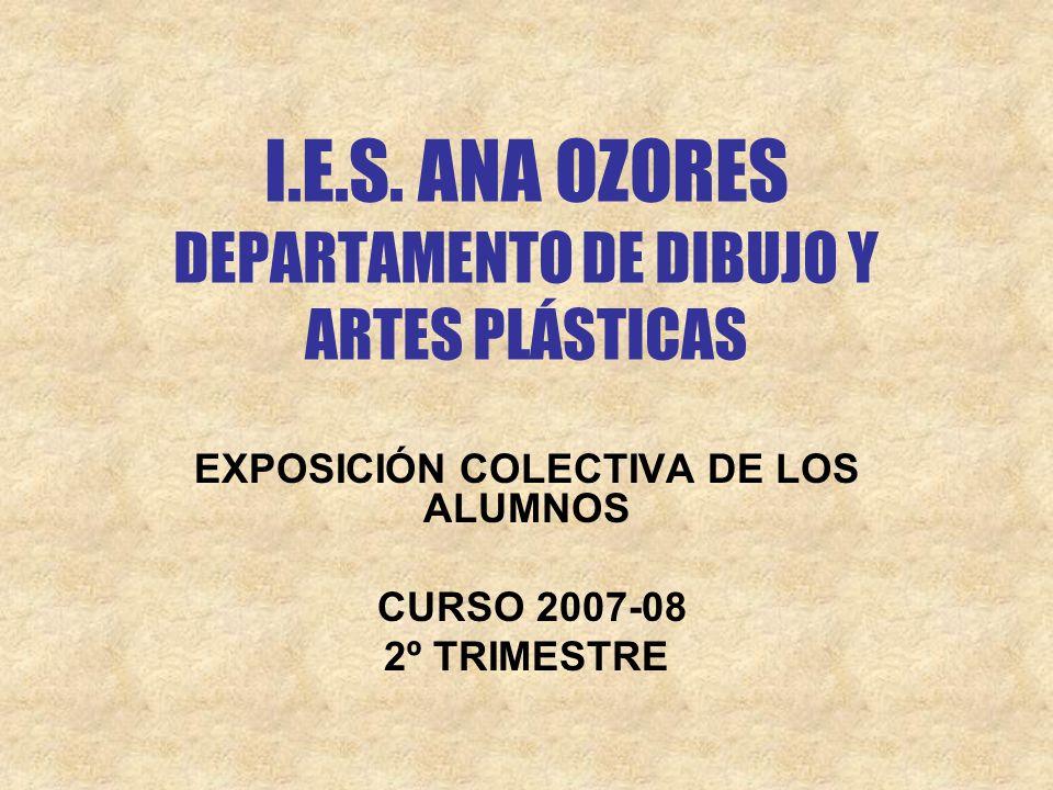 I.E.S. ANA OZORES DEPARTAMENTO DE DIBUJO Y ARTES PLÁSTICAS