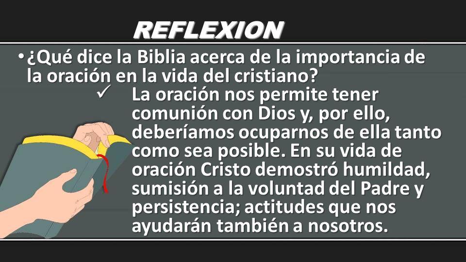 REFLEXION ¿Qué dice la Biblia acerca de la importancia de la oración en la vida del cristiano