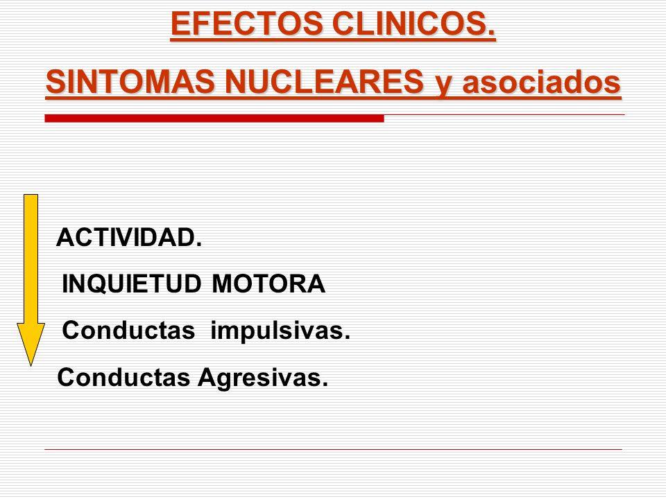 SINTOMAS NUCLEARES y asociados
